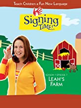 Signing Time Season 1 Episode 7: Leah's Farm