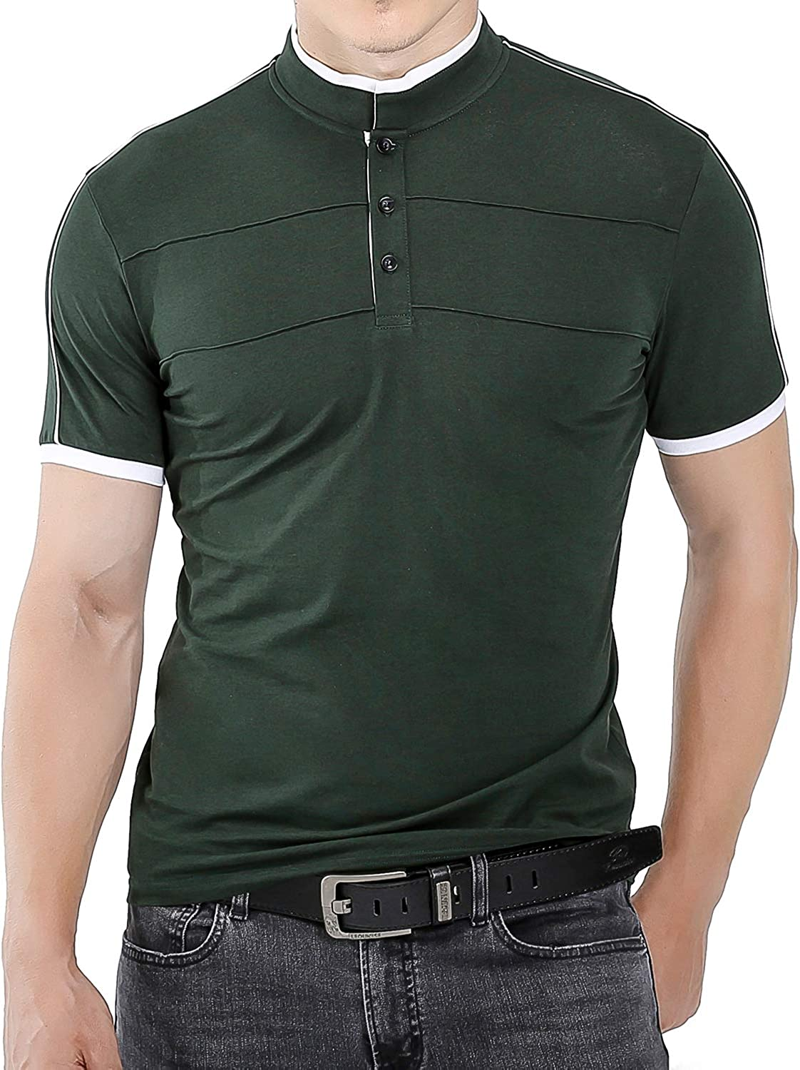 Kareas Mens Fashion Surprise price Polo Shirt Casual Sleev Slim Pique Louisville-Jefferson County Mall Fit Short