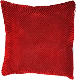 Mason Grey Pois Chenille, Polyester, Red, Cushion (Filled): 43x43cm