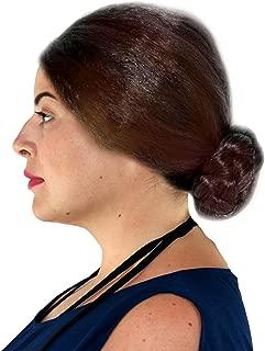 City Costume Wigs Old Lady Grandmother Women's Bun Wig Brown Bun Wig
