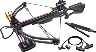 Leader Accessories Crossbow Package 175lbs 285fps Archery Equipment Hunting Bow with Quiver and 4pcs of Aluminum Arrow