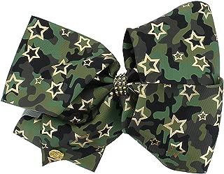 JoJo Siwa Large Cheer Hair Bow (Green Camo)