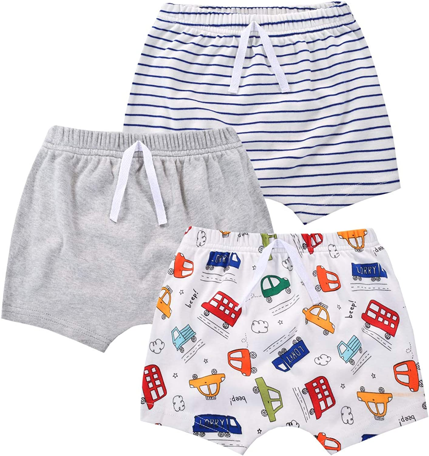 2021 spring and summer new mini eggs 3 Pack Cotton Shorts Unisex Boys Girls Short for Ranking TOP8 Baby