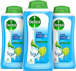 Dettol Body Wash and Shower Gel, Cool - 250ml Each (Buy 2 Get 1 Free)
