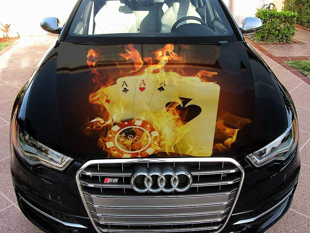 Stikka Vinyl Car Hood Wrap Full Color Cards Poker Max 78% OFF Decal Graphics Max 84% OFF