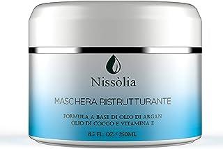 Maschera Capelli Ristrutturante Anticrespo - Trattamento Capelli Danneggiati Donna - Crema Capelli Ricci Crespi all'Olio d...