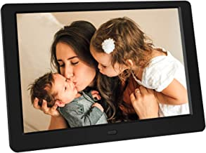 Tenswall 10 Inch Digital Photo Frame Upgraded HD1280x800,16:10 Digital Picture Frame Full IPS Display Photo/Music/Video/Calendar, Auto On/Off Timer, Support 32GB USB Drives/SD Card,Remote Control