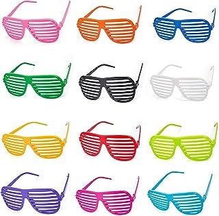 12 Sortes Monture de lunettes de fête colorée, Monture de Iunettes de Fête, Adaptées Aux Soirées Habillées pour Hommes et ...