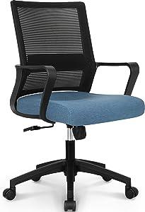 NEO CHAIR Office Swivel Desk Ergonomic mesh Adjustable Lumbar Support Computer Task Back armrest Home Rolling Women Adults Men Comfort Chairs Height Comfortable Gaming Modern (Blue)