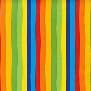 Robert Kaufman DI-506 Celebrate Seuss Squiggle Stripe Fabric by The Yard, Multi