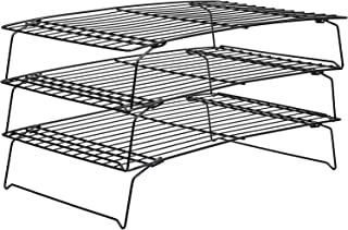 3-Tier Cooling Rack by U-HOOME, Stackable Non-Stick Cross Grid Cookie Cooling Rack Baking Supplies for Bread Cake Biscuits...