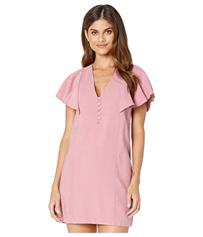 BCBGeneration Short Sleeve Woven Dress UIR6240222 (Heather Rose) Women