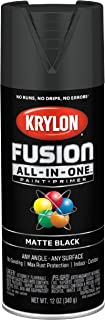 Krylon K02732007 Fusion All-In-One Spray Paint for Indoor/Outdoor Use, Matte Black