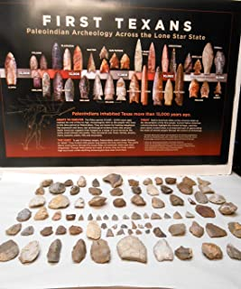 Rockhound's 1st Choice Central Texas Paleo Period Arrowheads & Tools with FREE Arrowhead Poster
