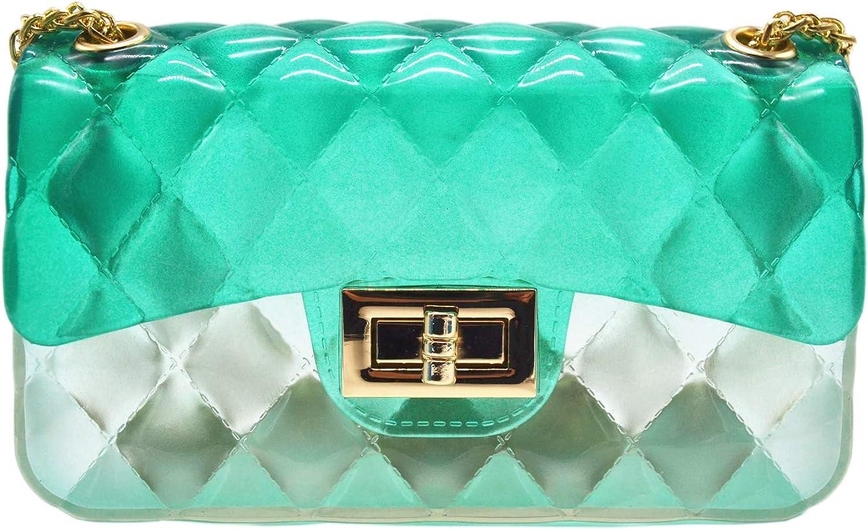 Anlydia Transparent Messenger Bag Lady Gradient Candy color Shoulder Purses Mini Crossbody Bag