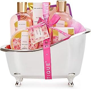 Spa Luxetique Coffret de Bain et de Soins, 8 Pièces Parfum de Rose, Cadeau d'Anneriversaire, Idée Cadeau pour Femme