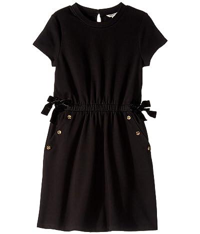 HABITUAL girl Elle Ponte Button Trimmed Dress (Big Kids) (Black) Girl