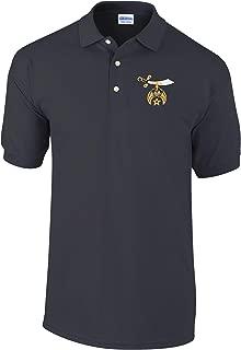 Logoz USA - Shriners Polo Golf Shirt Masonic Apparel Personalized Clothing- Mens Dress Shirt