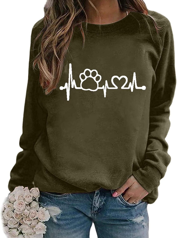 Jaqqra Crewneck Sweatshirts for Women, Women's Casual Long Sleeve Autumn Cute Pullover Tops Shirts Blouse for Teen Girls