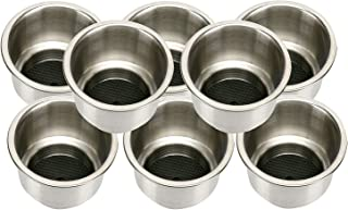 Amarine Made 8pcs Stainless Steel Cup Drink Holder with Drain Marine Boat Rv Camper