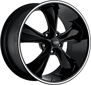 Foose Legend 20 Black Wheel / Rim 5x120 with a 40mm Offset and a 72.6 Hub Bore. Partnumber F104200021+40