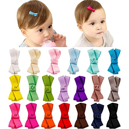 25 pcs Navy blue Gingham small hair clip Covers for toddler baby girl size 35 mm