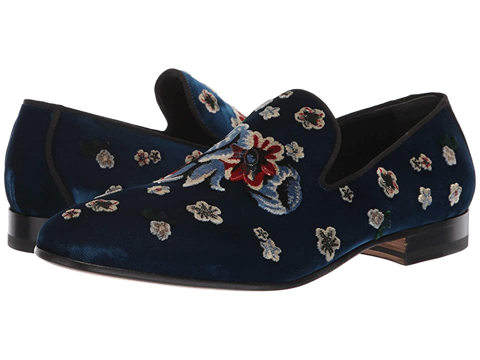 Alexander McQueen Garden Embroidered Loafer (Indigo/Multi/Black) Men