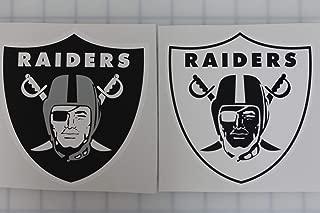 Creative Club Stickers Set of 2 NFL Oakland Raiders Helmet Decals Truck Sticker Vinyl Car Bumper Window Laptop Raider Nation (4 Sizes) (Set of 2-3