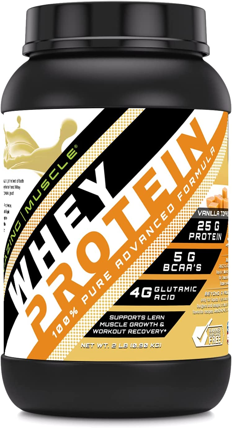 Amazing Muscle 100% Whey Protein Advanced Formula Don't miss the campaign Max 70% OFF with W Powder