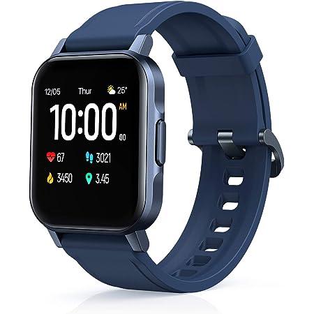 AUKEY Smartwatch, 1,4'' Full Touch 320p Schermo Orologio Fitness Activity Tracker, Impermeabil IP68, Cardiofrequenzimetro, Cronometro Contapassi, Notifiche Messaggi, Controllo della Musica Blue