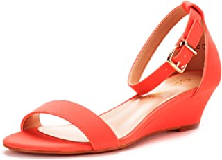 coral low wedges
