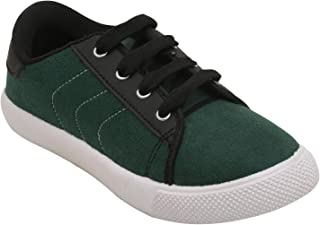 D'chica Bro Green Suede Winter Shoes for Boys Sneakers