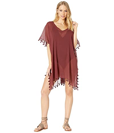 Seafolly Future Tribe Amnesia Kaftan Cover-Up (Plum) Women