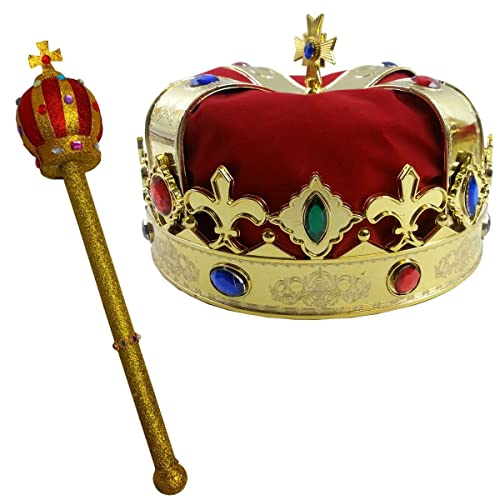 Royal King s Crown and Scepter Costume Dress Up Set By Funny Party Hats 20e66ea2f493