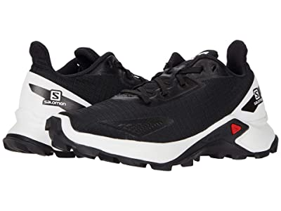 Salomon Kids Alphacross Blast (Little Kid/Big Kid) (Black/White/Black) Kid