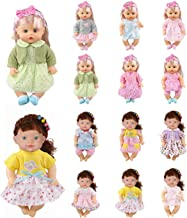 Huang Cheng Toys 12 PCS 12 Inch Doll Clothes Alive Baby Dress Outfits Costumes Dolly Pretty Doll Cloth Handmade Girl Christmas Birthday Gift