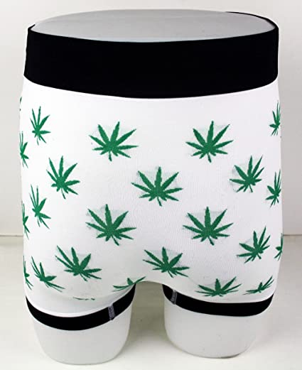 Imtd Nouveau Boxer Shorts Feuille GANJA WEED design homme assortis Toutes Tailles UK