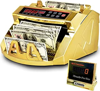 Rose Gold Money Counter Machine with UV/MG/IR Counterfeit Detection & Bill Counting Portable Bill Counting with LED Extern...