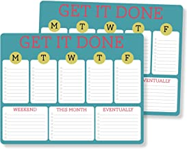 Beautifully designed with full rich colors on great smooth rounded paper Multi Featured tabs for all your daily tasks with motivational message GET IT DONE 2 pack Weekly Planner Mouse Note Pad