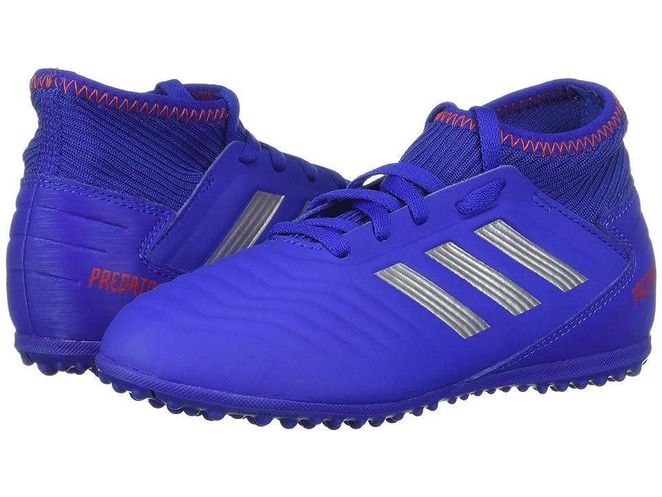 adidas Kids Predator 19.3 TF Soccer (Little Kid/Big Kid) (Blue/Silver/Active Red) Kids Shoes