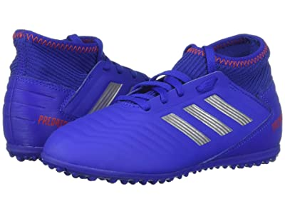 adidas Kids Predator 19.3 TF Soccer (Little Kid/Big Kid) (Blue/Silver/Active Red) Kids Shoes