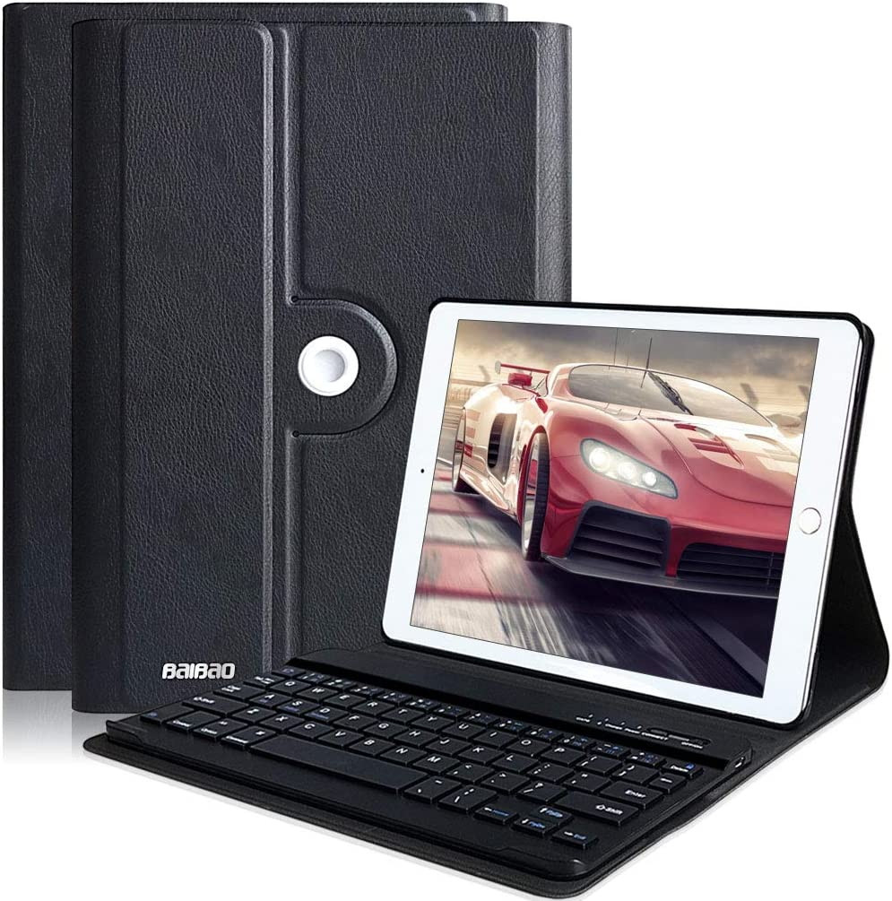 iPad Keyboard Case for iPad 9.7 2018 6th Gen- iPad 9.7 5th Gen 2017 -iPad Pro 9.7- iPad Air 2-iPad Air 1, iPad Case with Detachable Bluetooth Keyboard for 9.7 inch iPad
