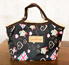 Fashion and High Quality Thicken Insulated Lunch Bag Portable Storage Bag(Black)