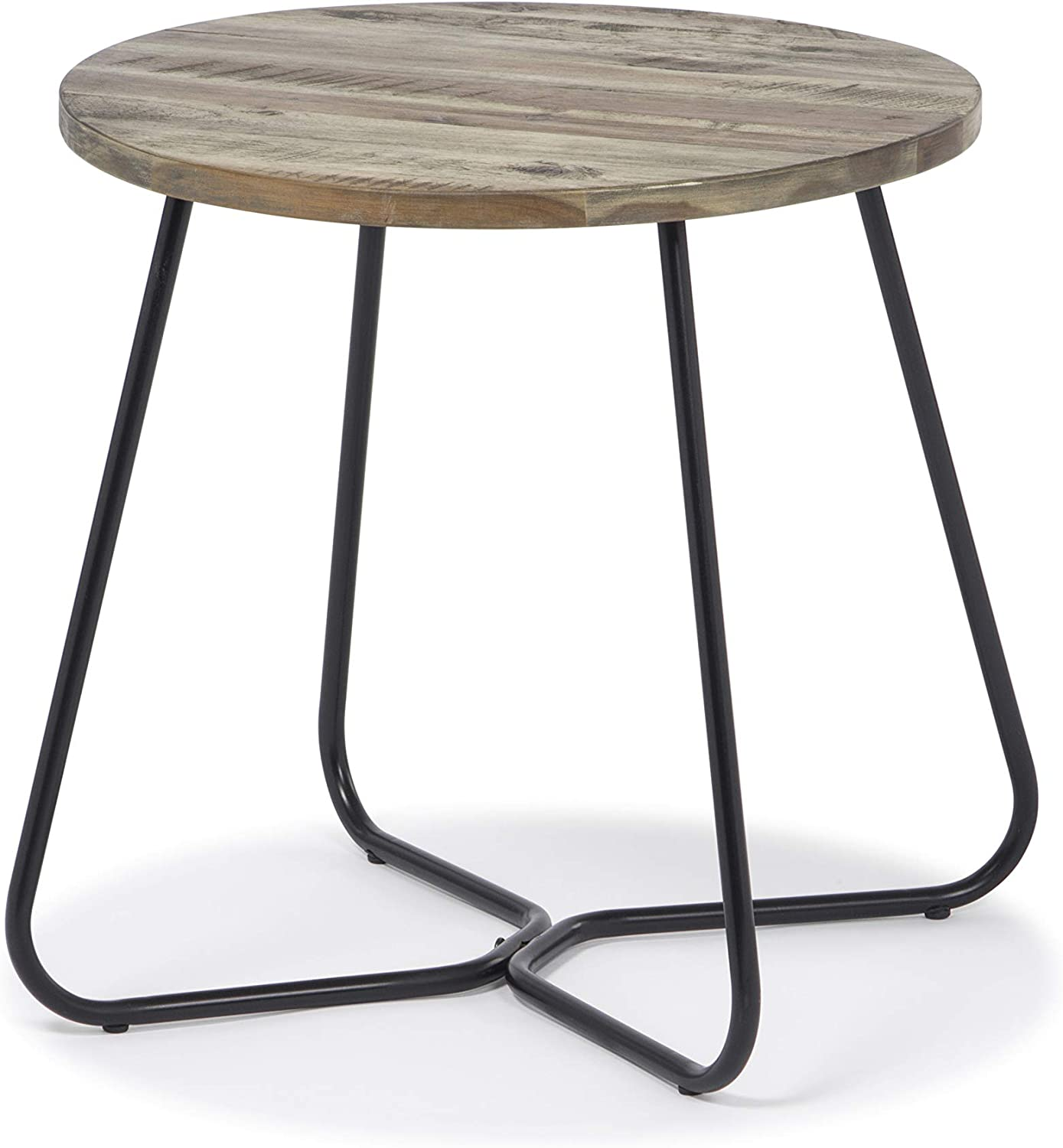 Ballena Solid Wood Rustic End Table  use as End, Side, Bedside Table - Living Bedroom Furniture (Brown)
