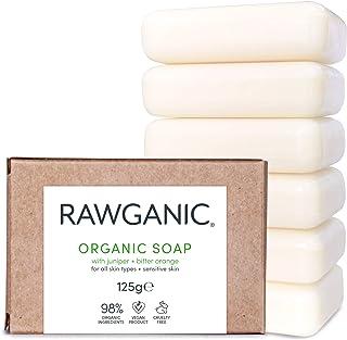 RAWGANIC BIO Seife, für Hand und Körper - mit Extrakten aus Wacholder und Bitterorange - 6er Pack
