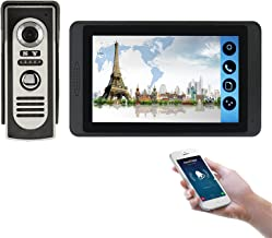 Wifi Video Deurbel, Intercom, Video Deurtelefoon Beveiliging Surveillance Kit, Nachtzicht Camera + 7 Inch Monitor, APP Unlock