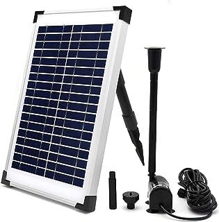 ECO-WORTHY Solar Fountain Water Pump Kit 10 W, 160GPH+ 12 Watt Solar Panel Submersible Powered Pump for Small Pond, Garden...