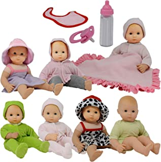 The New York Doll Collection Baby Doll Clothes New Born Baby Doll Outfits for 14 15 and 16 inch Dolls Includes Doll Access...