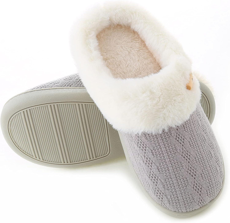 TMTYH Award Women's Slippers Manufacturer OFFicial shop Warm Knitted House Slipper Jacquard Upper
