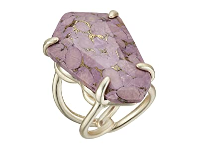 Kendra Scott Macie Cocktail Ring (Gold/Bronze/Veined Lilac) Ring